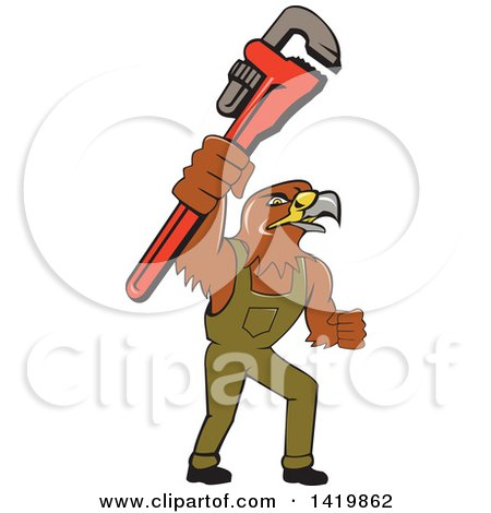 450x470 Clipart Of A Mono Line Styled Hawk In A Circle