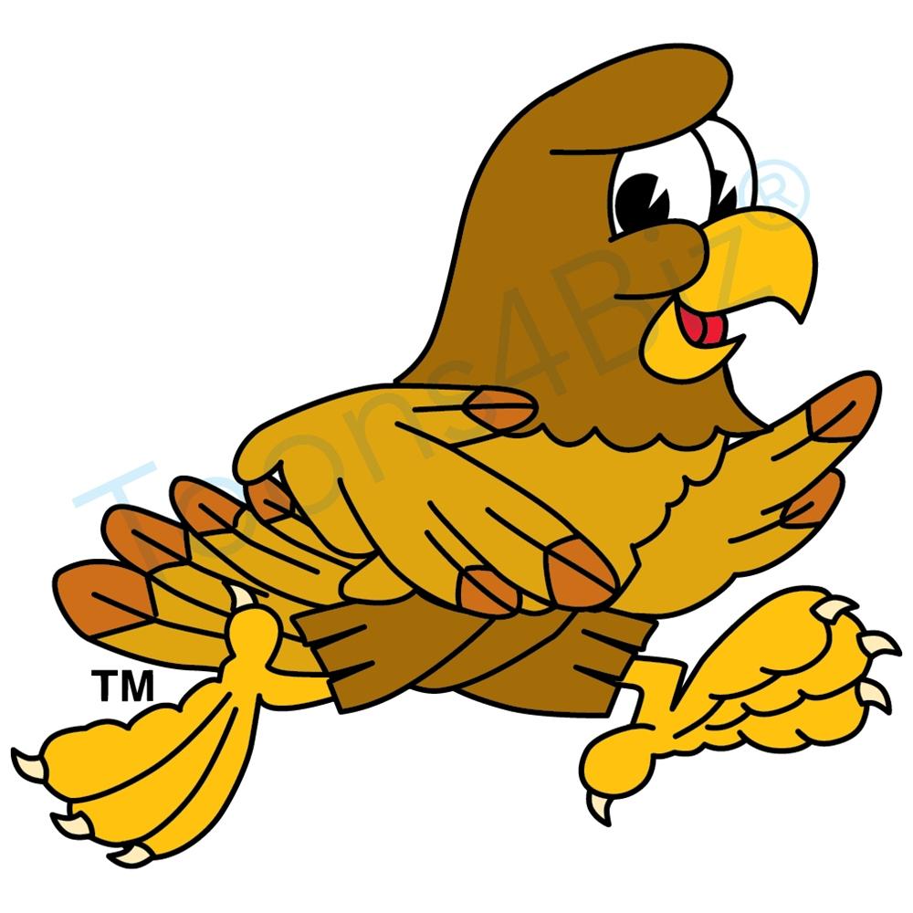 1000x1000 Hawk Mascot Running Clip Art Clip Art Graphic