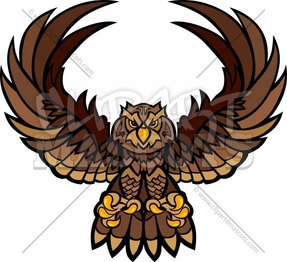 590x537 Owl Mascot Graphic Vector Logo