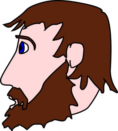 383x425 Clip Art Guy With Beard Clipart