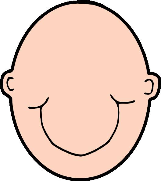 528x594 Plain Peach Head Clip Art