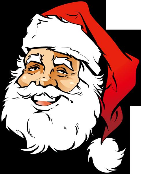 488x600 Santa Head Clipart