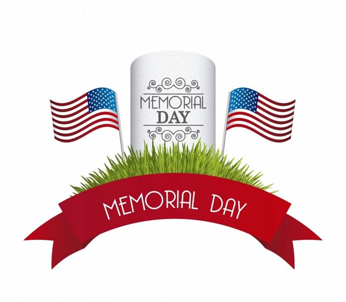 700x610 Memorial Day Headstone Clipart