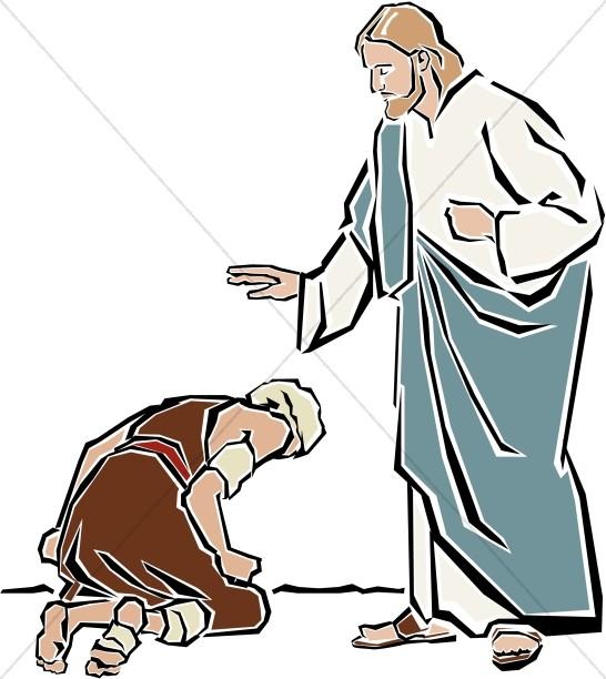 546x612 Jesus Heals The Leper New Testament Clipart