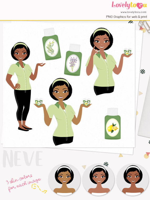 570x760 Essential Oil Woman Character Clipart, Aromatherapy Girl, Healing