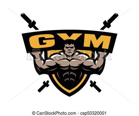 450x376 Bodybuilding Gym Logo, Emblem. Bodybuilding Sport Gym Logo, Emblem