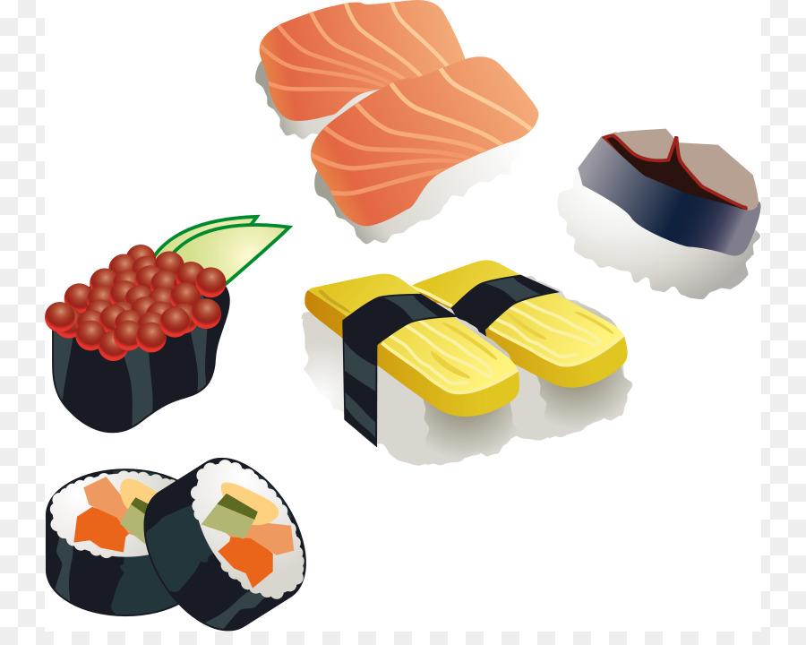 900x720 Sushi Japanese Cuisine Sashimi Bento Clip Art
