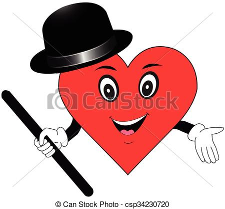 450x417 Healthy Heart Cartoon Vector Vector Illustration
