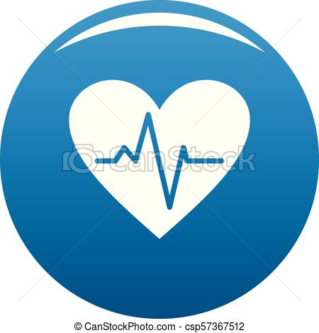 450x470 Healthy Heart Icon Vector Blue. Healthy Heart Icon. Simple