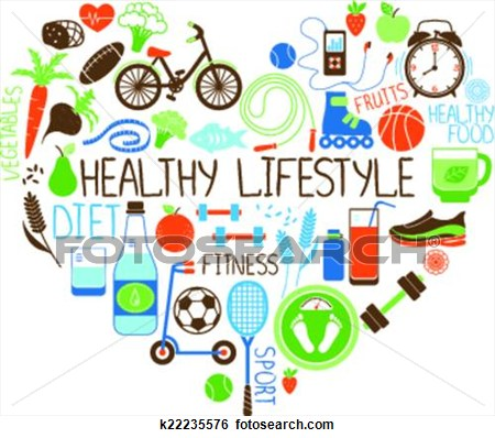 450x398 Heart Healthy Lifestyle Clipart