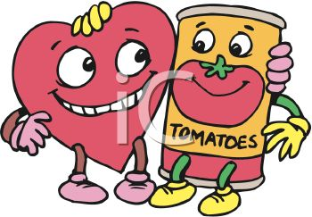 350x243 Heart Healthy Tomato Cartoon Characters