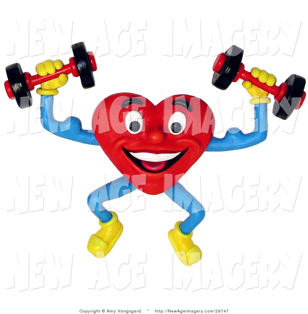 1024x1044 3d Illustration Of A 3d Red Healthy Heart Lifting Weights On White