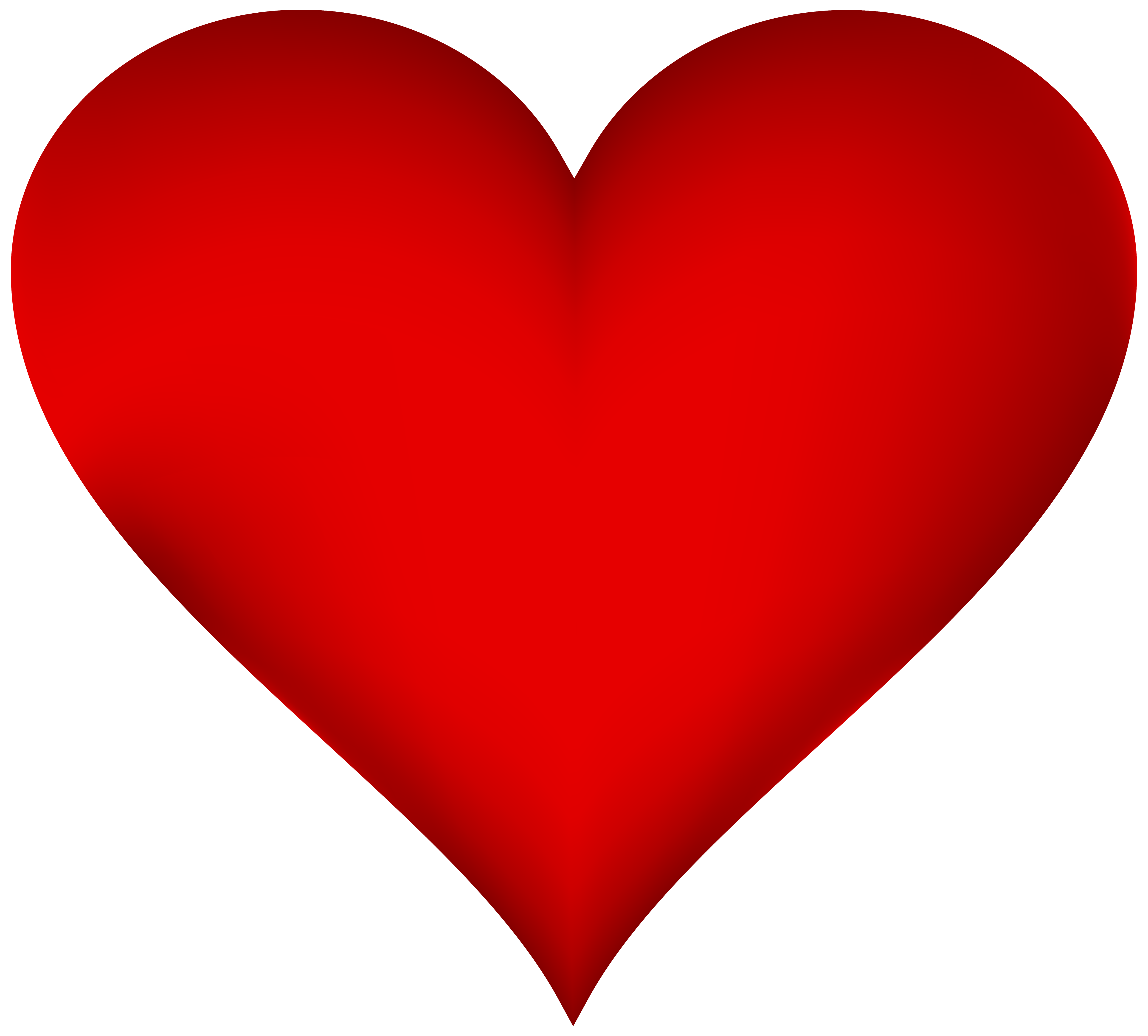 5000x4514 Heart Png Clipart