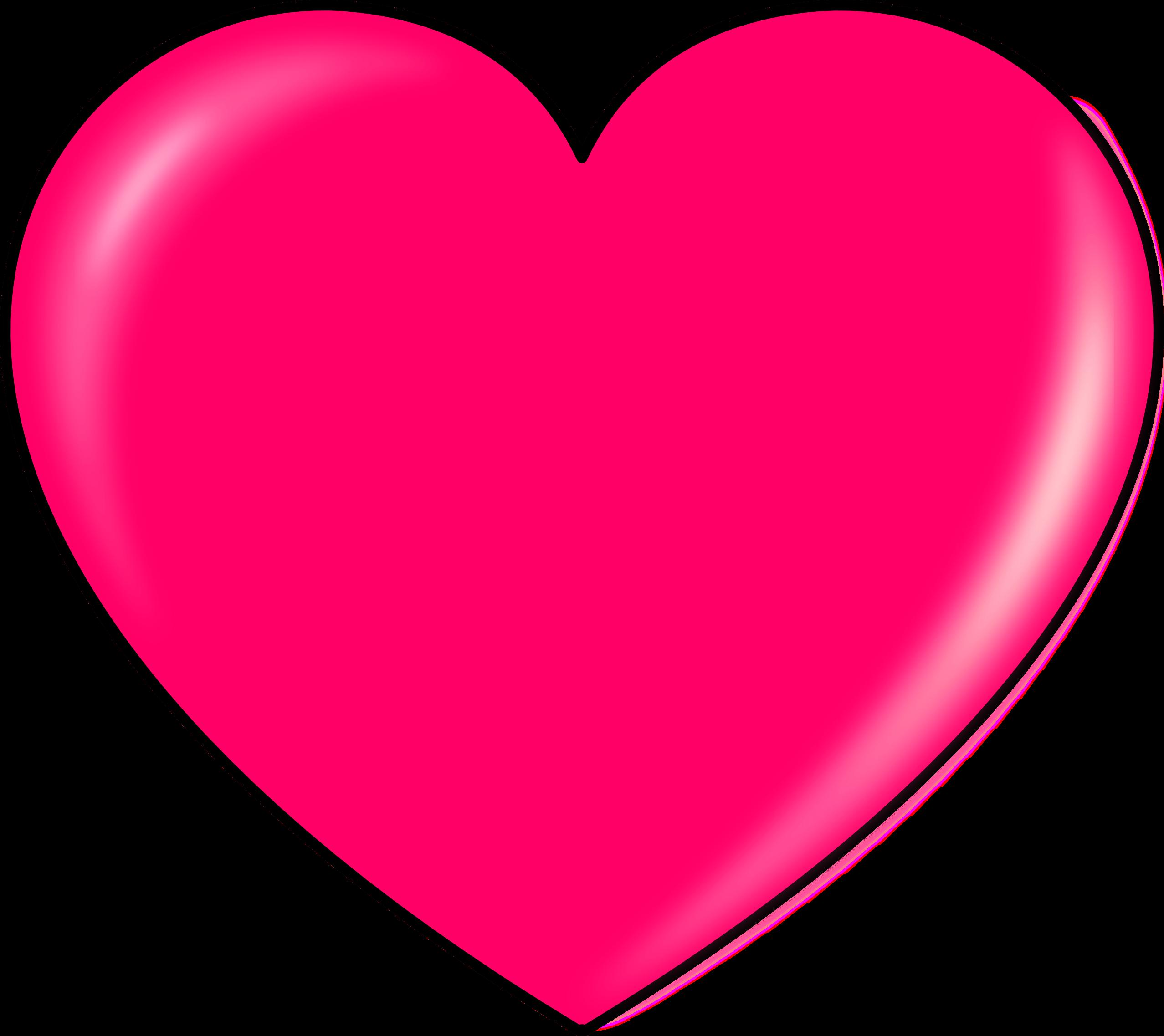 2555x2275 Pink Heart Clipart Transparent Png