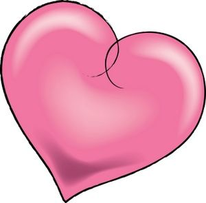 300x295 Images Of Pretty Hearts Pink Heart Clip Art Love~ Love