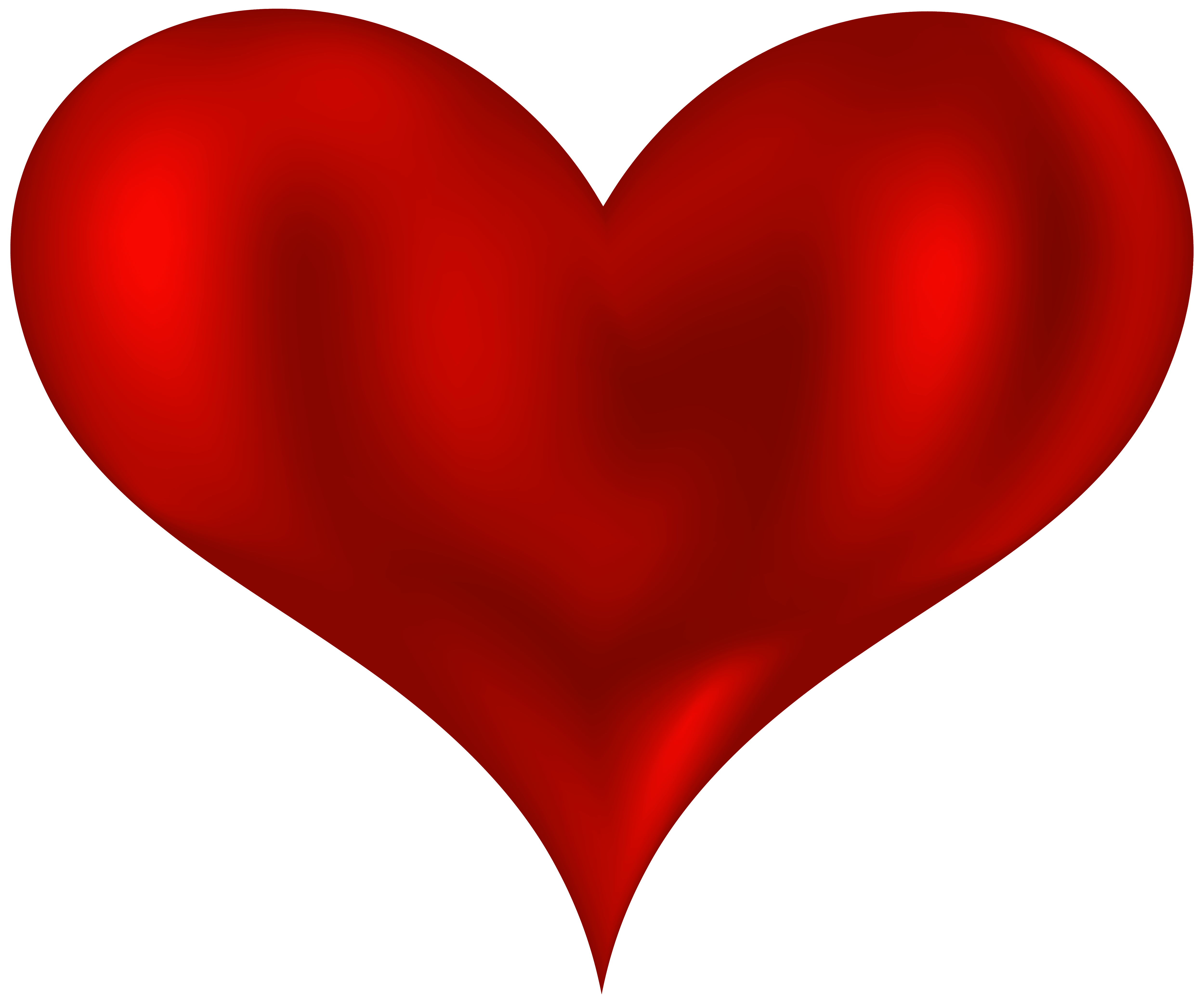 5000x4165 Beautiful Heart Red Png Clipart