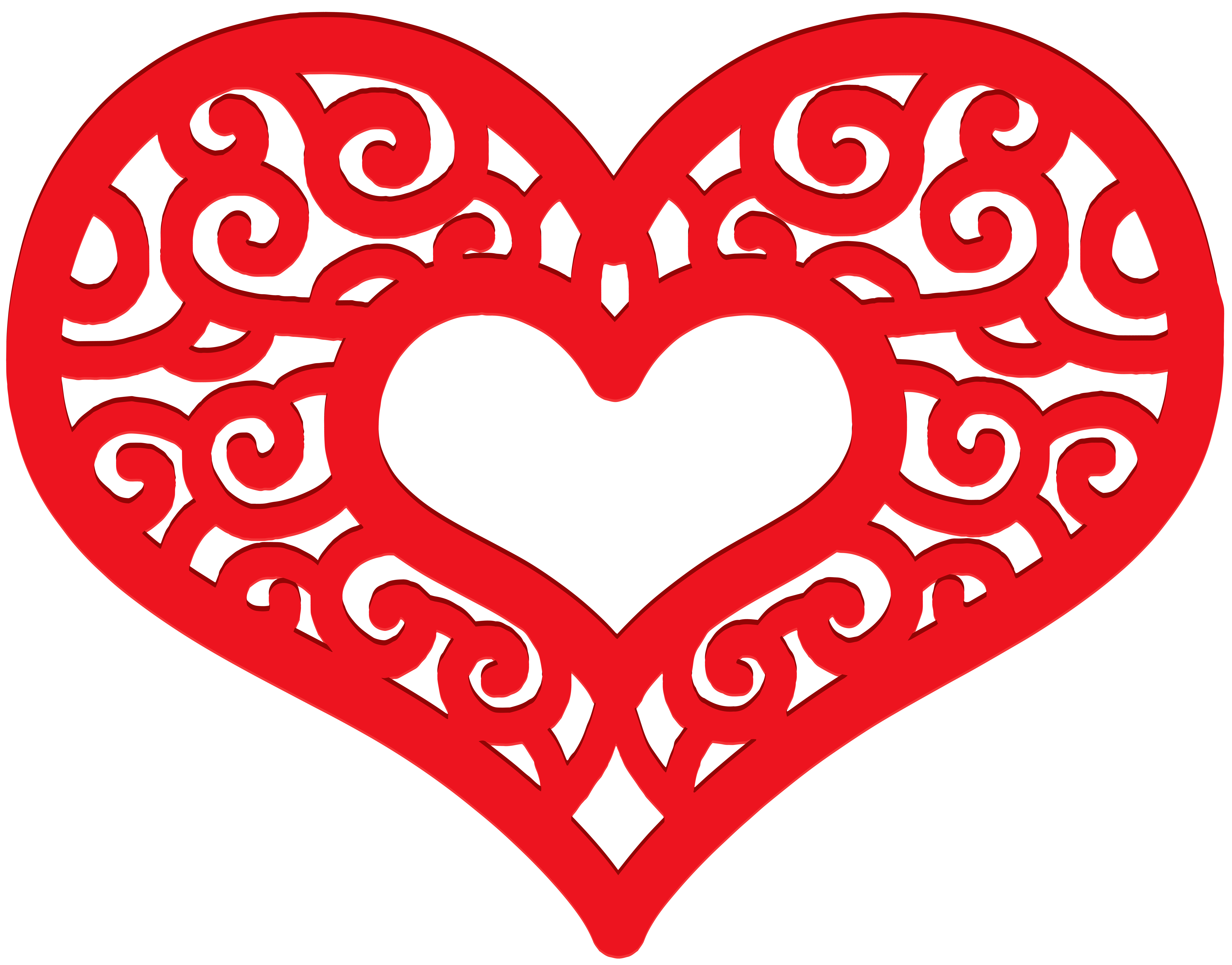 8000x6264 Decorative Red Heart Png Clip Art Imageu200b Gallery Yopriceville