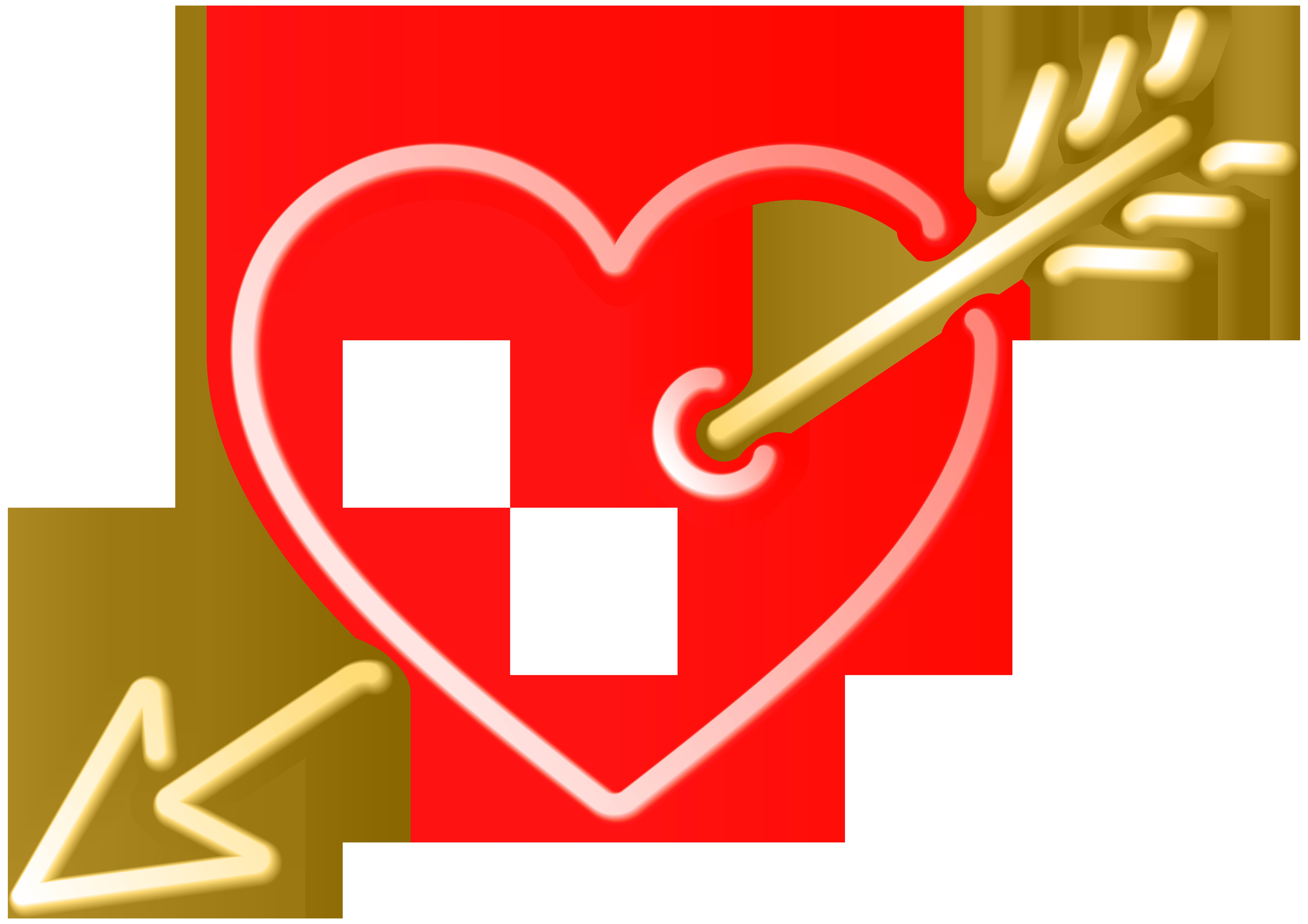 8000x5653 Heart And Arrow Transparent Clip Art Imageu200b Gallery Yopriceville