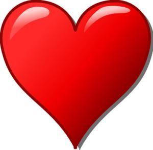 300x293 Free Heart Clip Art Images Clker's Free Heart Clip Art