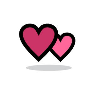300x300 Heart Clipart