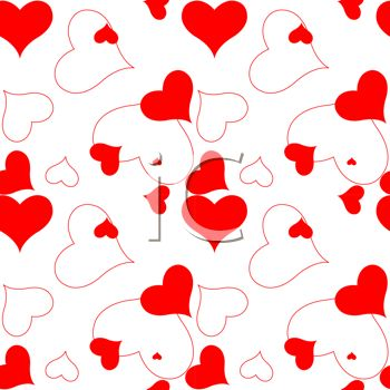 350x350 Picture Of A Background Of Assorted Hearts In A Vector Clip Art