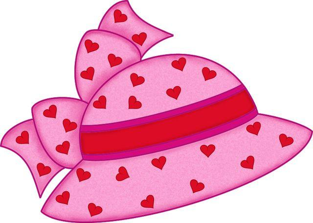 640x456 Pink Hat With Hearts Pink Hat Hats And Clip Art Free