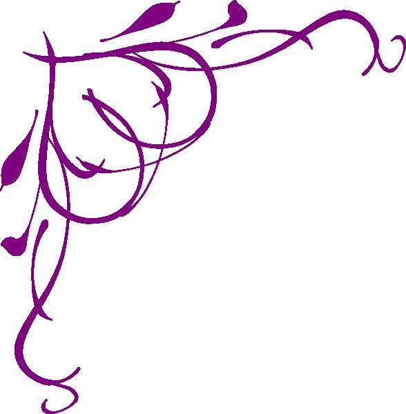 588x600 Purple Heart On Vine Clip Art