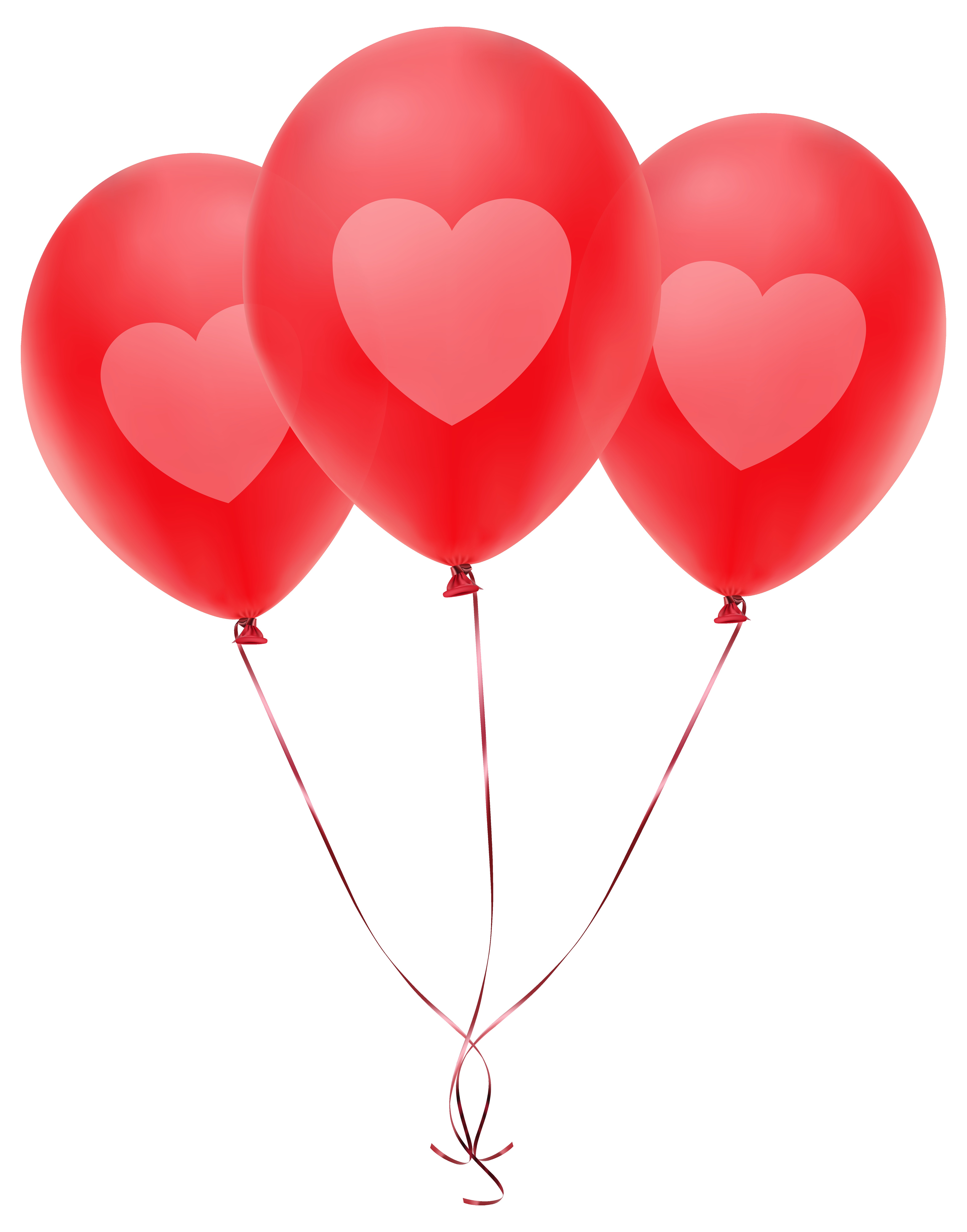 6280x8000 Red Balloon Heart Design Single Transparent Clip Art For Alluring