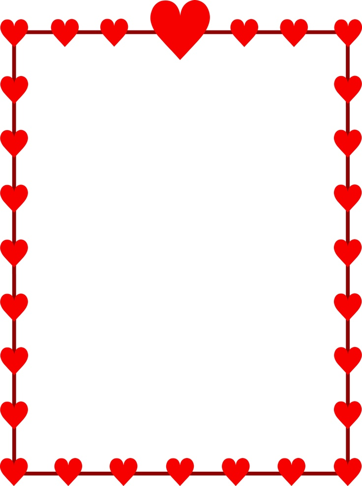 736x990 Valentine Clipart Border