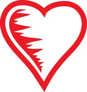284x300 Clip Art Heart Outline Cool Clip Art