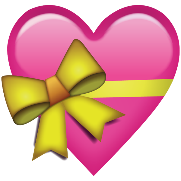 600x600 Download Pink Heart With Ribbon Emoji Png. You'D Give That Special