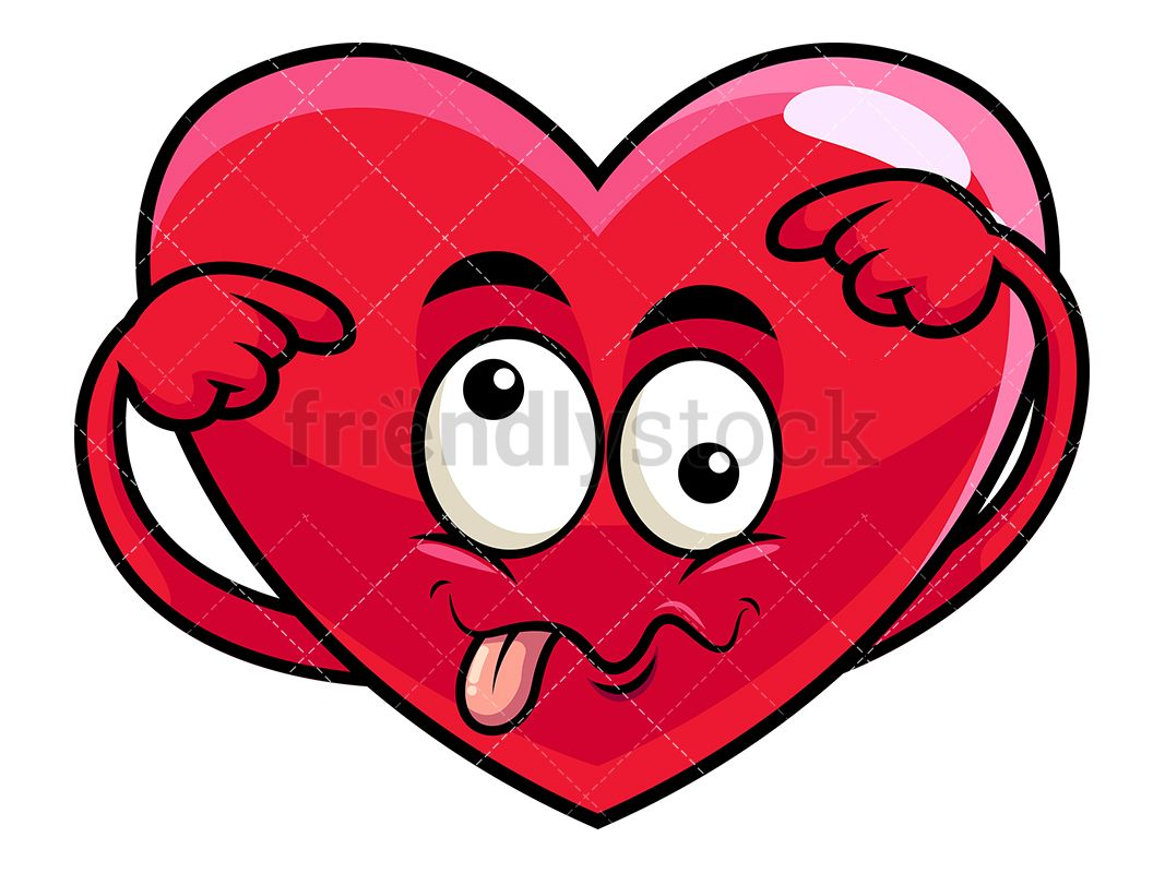 1067x800 Goofy Crazy Eyes Heart Emoji Cartoon Vector Clipart