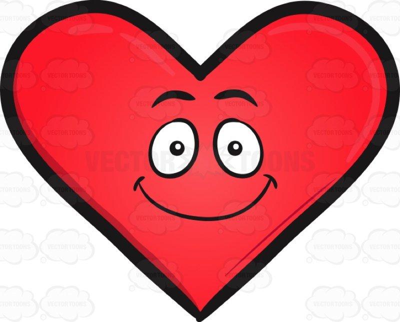 800x644 Happy Heart Emoji Cartoon Clipart Vector Toons