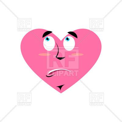 400x400 Heart Urprised Emoji Royalty Free Vector Clip Art Image