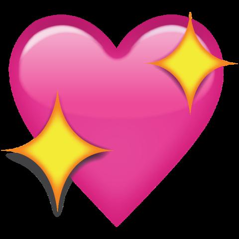480x480 Sparkling Pink Heart Emoji Png
