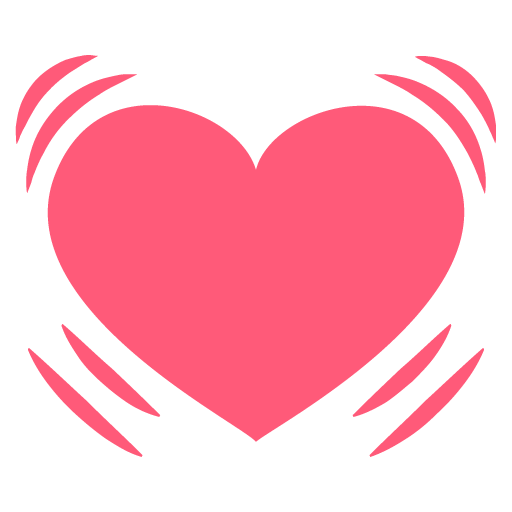 512x512 Beating Heart Emoji Icon Vector Symbol Free Download Vector