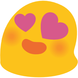 266x266 Emoji Android Smiling Face With Heart Shaped Eyes