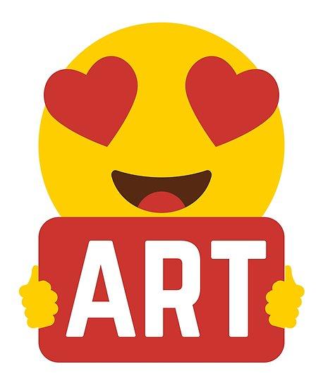 458x550 I Love Art Heart Eye Emoji Emoticon Funny Artistic Artists