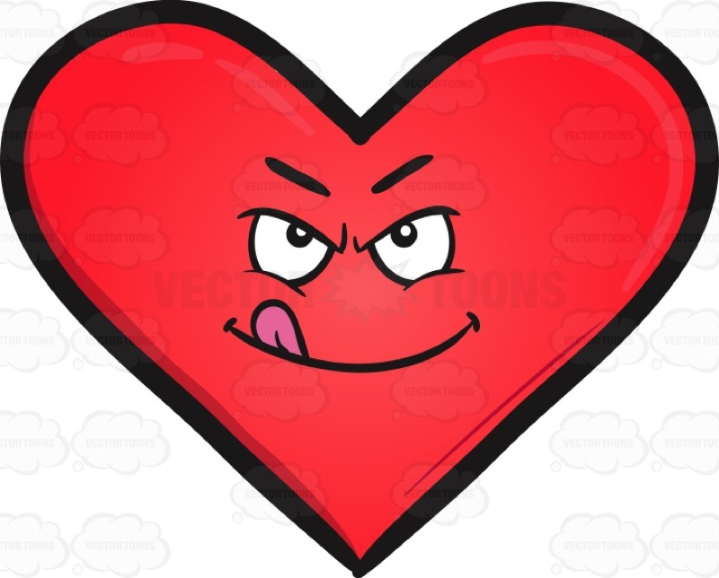 800x644 Ready To Rumble Heart Emoji Cartoon Clipart Vector Toons