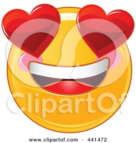 450x470 Royalty Free (Rf) Clip Art Illustration Of A Valentine Smiley