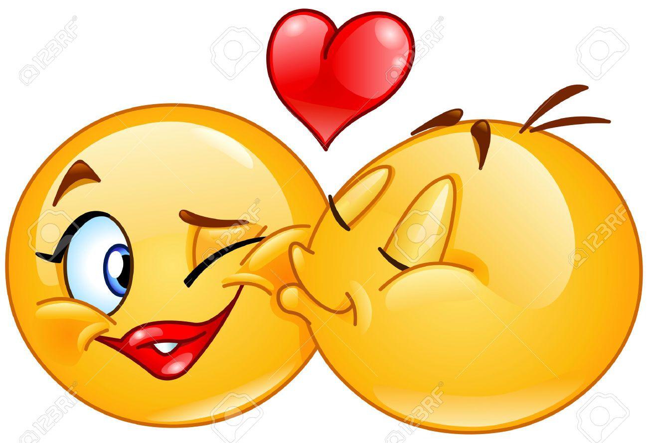 1300x889 Besar Emoticonos. Emoticon Hombre Besando A Una Mujer Emoticon