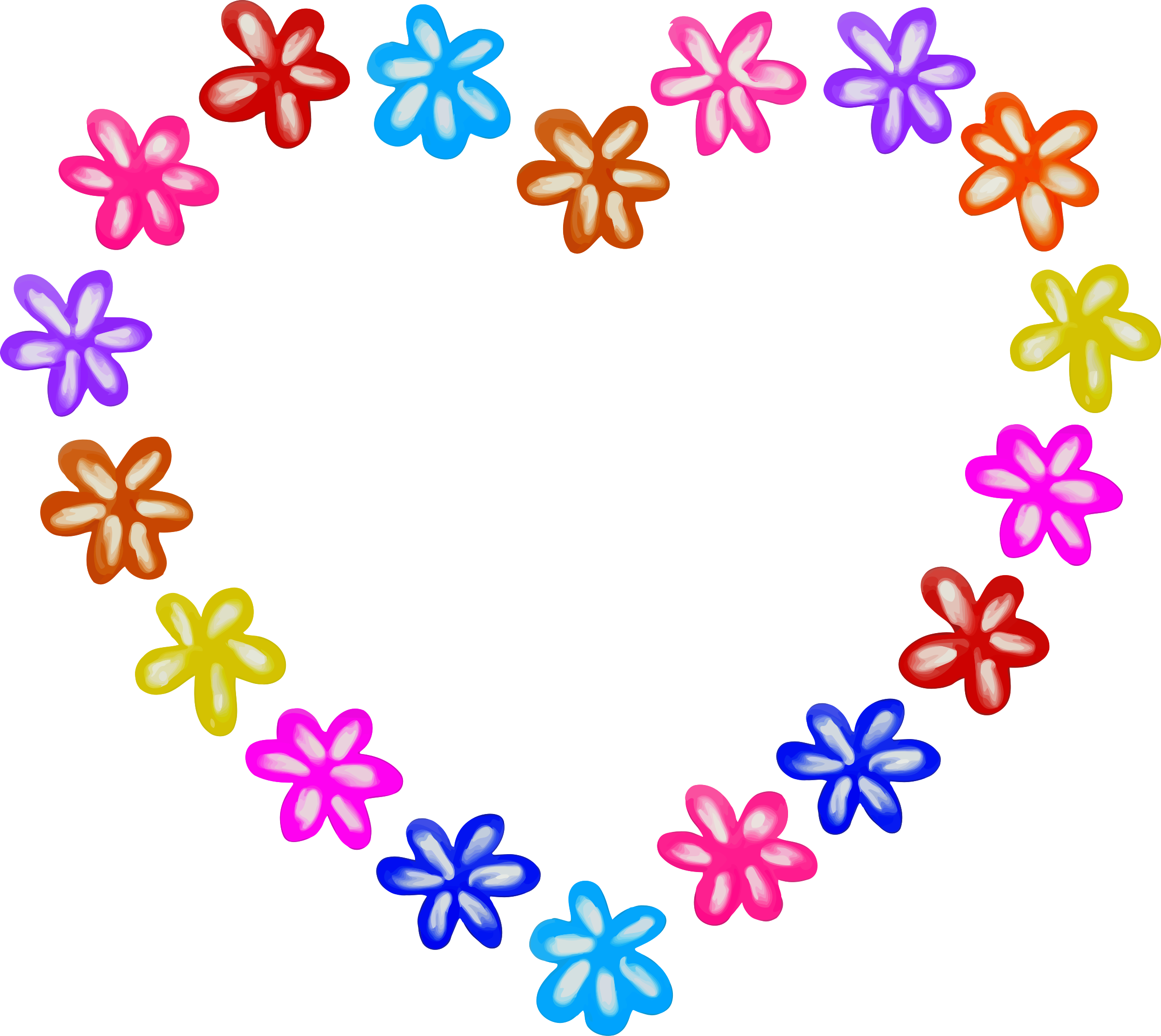 2400x2142 Flower heart Icons PNG
