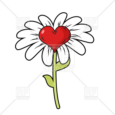 400x400 Flower of love Royalty Free Vector Clip Art Image