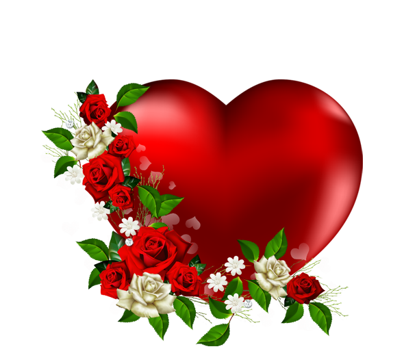 590x529 Heart Png With Flowers Love Heart Image Clipart