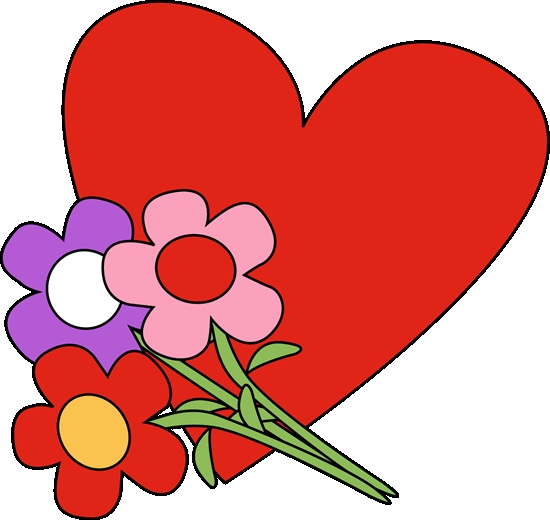 550x520 Hearts Flowers Clipart Valentines Day Heart And Flowers Clip Art