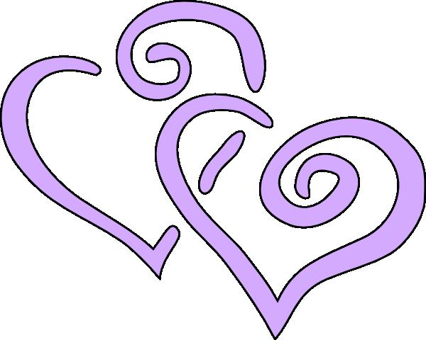 600x480 Interwined Heart Clip Art