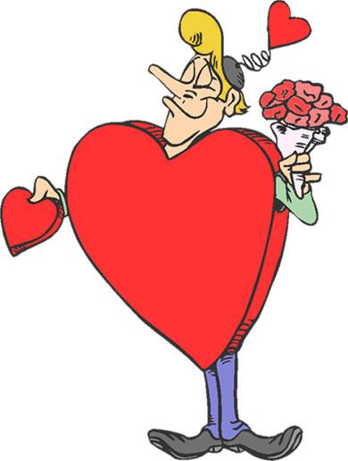 390x516 Valentine's Day Clipart Valentine Rose Heart