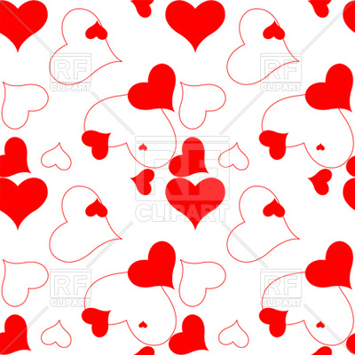400x400 Heart Pattern Royalty Free Vector Clip Art Image
