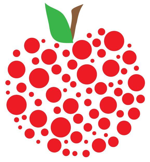 578x624 Hearts Clipart Apple 3602364