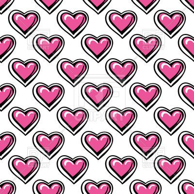 400x400 Love Seamless Pattern With Pink Cartoon Hearts Royalty Free Vector